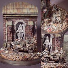 "PART 2 - ""Saints&Sinners"" diorama. Modeler Marcus Nieminen #scalemodel #plastimodelismo #miniatura #miniature #maqueta #maquette #modelismo #modelism #modelisme #miniatur #plasticmodel #plastimodelo #plastickits #usinadoskits #udk #diorama #hobby"