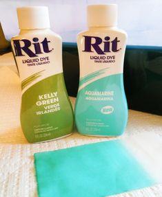 Rit dye formula for mint green (diy mint  colored jeans!)