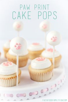 These Paw Print Cake Pops are perfect for a puppy dog birthday party and can be custom colored to match your theme!