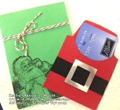santa gift card holder santas list stampin up