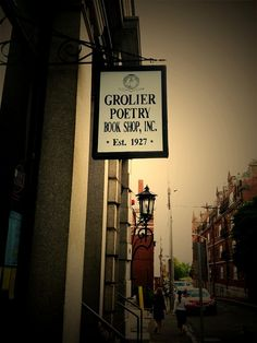 Grolier Poetry Book Shop in Cambridge, MA is the oldest continuous poetry bookshop in the United States.