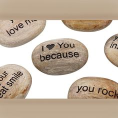 I Love You Because Pocket Stone Gift Set   Valentines Day Gifts For Couples, Him, Her, Wife, Husband