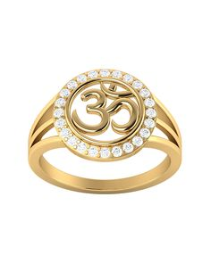 Large Gold Flash Plated OM Ring