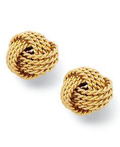 Giani Bernini 24k Gold Love Knot Earrings