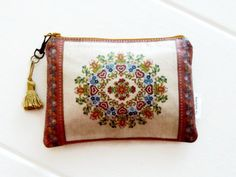 Folklore large purse or small cosmetic pouch by JiggleMaWiggle