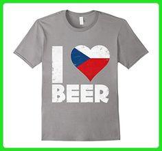 Mens I Heart Czech Beer Czech Republic Pride Love T-Shirt XL Slate - Food and drink shirts (*Amazon Partner-Link)