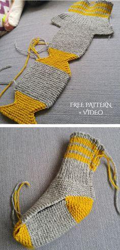 Easy Knitting, Knitting Stitches, Knitting Socks, Knitting Patterns Free, Knit Patterns, Knitting For Kids, Knitting Needles, Stitch Patterns, Bonnet Crochet