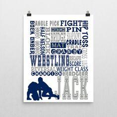 wall vinyl decal home decor art sticker wrestling match wrestlers
