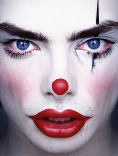 Clowns by Erwin Olaf. Good inspiration for Halloween make up. #clown. See more here  http://bumbumbum.me/2009/12/11/clowns-by-erwin-olaf/