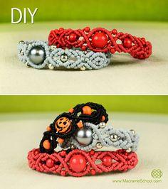 Wavy Pumpkin Bracelet with Beads - http://youtu.be/Ow4pz7f8AlI