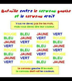 Mdr Test Psycho, French Colors, Brain Gym, Brain Breaks, French Lessons, Optical Illusions, Periodic Table, Blog, Bullet Journal