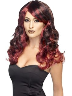 You can buy a Women's Ombre Devilish Wig for Halloween parties from the Halloween Spot. Complete your evil costume with this red and black devilish wig. Halloween Wigs, Adult Halloween, Beautiful Witch, Most Beautiful, Costume Wigs, Costumes, Black Ombre, Red Black, Ombre Wigs