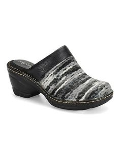 Take a look at this Black & Gray Lissandra Clog by Softspots on #zulily today!
