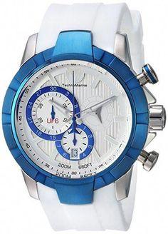 c51087ffd3be6 Technomarine TM-615013 Men s Watch UF6 Swiss Chrono Mvt Blue White   MensWatches Best