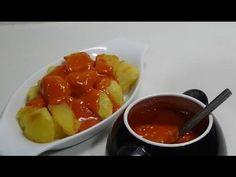 PATATAS BRAVAS (LAS DE VERDAD) - YouTube Vegan Vegetarian, Vegetarian Recipes, Spanish Dishes, Dinner Sides, Vegetable Dishes, Fruit Salad, Tapas, Food To Make, Side Dishes