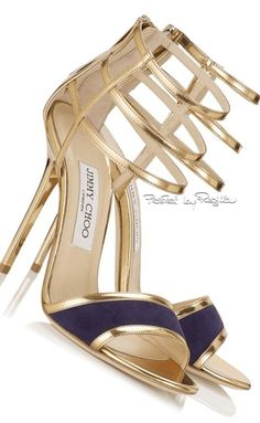 Jimmy Choo two-toned sandals www.ScarlettAvery.com