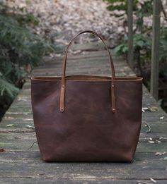 Avery Leather Tote Bag by Go Forth Goods