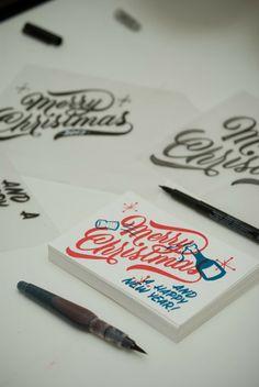 30 fantásticos lettering muy navideños