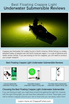 Best Floating Crappie Light Underwater Submersible: In order to get the crappie job done, you will need to find lights that are submersible underwater and perform well. These crappie lights are highly durable, totally waterproof, and work well under saltwater and freshwater. Fisher, Crappie Fishing Tips, Fishing Lights, Underwater Fish, Light Take, Light Works, Dad Gifts, Floating, Freshwater Fish