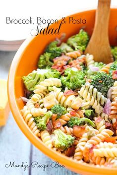 Mandy's Recipe Box: Broccoli Bacon & Pasta Salad