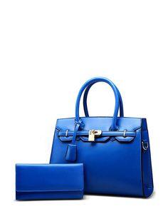 Jollychic Stylish Solid Brief Design Double Handles Women Handbags Fashion Handbags, Fashion Bags, Fashion Accessories, Online Shopping For Women, Fashion Essentials, Hermes Birkin, Leather Bag, Wallet, Stylish