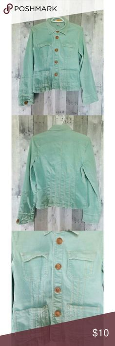 Mint Green Corduroy Tulle Anthropologie Jacket Excellent condition, no damage or stains, like new.  Freshly laundered and ready for shipment! Tulle Jackets & Coats