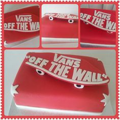 """Vans off the Wall"" cake"