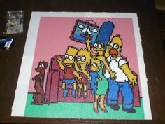 The Simpsons hama perler beads by marmotte88130 - Pattern: https://www.pinterest.com/pin/374291419004484205/