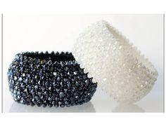 Bracelet mariage - manchette toupies crystal de swarov - au choix