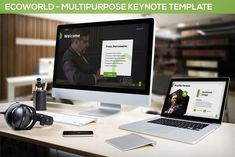 Ecoworld - Multipurpose Keynote Template by SlideFactory on Envato Elements Presentation Design Template, Design Templates, Image Layout, Social Media Logos, Keynote Template, Color Themes, Free Design, Infographic, Finance