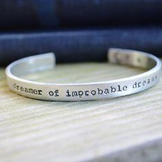 Dr. Who Bracelet Cuff Dreamer of Improbable by CynicalRedhead