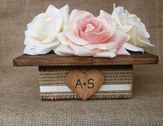 Wedding Wood Planter Box Center Piece with by MelindaWeddingDesign, $20.00