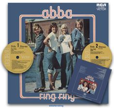 """Abba's album """"Ring Ring"""" entered the charts in New Zealand on the 19th March 1976 where it remained for 6 weeks reaching number 32  #Abba #Agnetha #Frida #NewZealand #Vinyl http://abbafansblog.blogspot.co.uk/2017/03/19th-march-1976.html"""