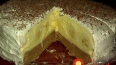 No bake banana cake! Brze Torte, Kolaci I Torte, Serbian Recipes, Czech Recipes, No Bake Cookies, No Bake Cake, Healthy Diet Recipes, Cooking Recipes, Baked Banana