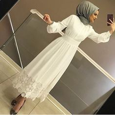 Hijab Fashion Summer, Modern Hijab Fashion, Abaya Fashion, Fashion Dresses, Hijab Evening Dress, Hijab Dress Party, Hijab Style Dress, Hijab Outfit, Dress Outfits