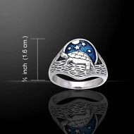 Turtle .925 Sterling Silver Ring Size 6 by Peter Stone
