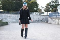 Givenchy boots and Marc Jacobs beanie..