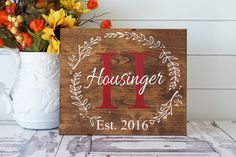 Last Name Sign | Family Established | Personalized Gift | Custom Wedding Decor | Rustic Home Decor | Established Date | Personalized Sign