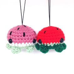 KAWAII KON PROMOTION: get $1 off your purchase on APRIL 8 (Friday) ONLY when you show us that you're following @loadsocuties.   I can't wait for summer so I can go to the beach and eat watermelon all day.  How cute are these color combinations? I'm starting to prefer the colors on the left.  #crochet #amigurumi #cutie #cute #kawaii #octopus #tako #watermelon #sweet #pink #green #fruit #hawaii #plush #plushie #yarn #crafts #craftlife #handmade #diy #joann #handmadeisbetter #handmadebusiness…