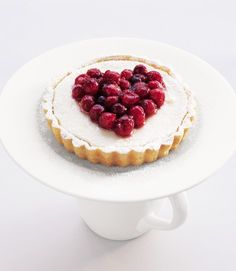 White chocolate and cranberry tarts recipe