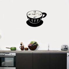 Reloj Pared Taza Café