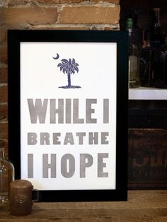 Hope // Letterpress print on 100% Cotton // Old Try // $42