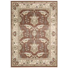 Auvergne Area Rug in Rust | Wayfair