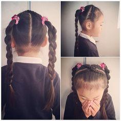 . . #ツインテール  結んだ先を3D三つ編みにしようかと思ったけど 事故で痛めてる肩が疲れてしまって ただの三つ編みになりました😅 . . . #cutegirlshairstyles #prettyhair #hairforgirls #schoolhair #toddlerhair #kidshair  #littlegirlshair #littlegirlhairstyles #hairarrange #twintail  #dutchbraid #cutehair #キッズヘア #キッズヘアアレンジ #子供ヘアアレンジ #ヘアアレンジ #キッズヘアスタイル #6歳 #年長 #裏編み込み #三つ編み