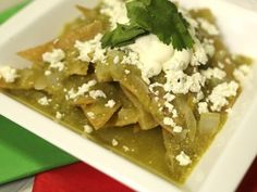 Receta de Chilaquiles en Salsa Verde