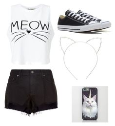 Cute by egloomis on Polyvore featuring polyvore, fashion, style, Miss Selfridge, rag & bone, Converse, Cara and clothing