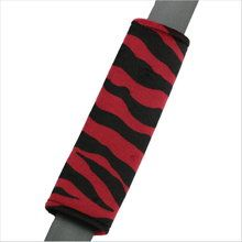 Drive in comfort with Zebra Animal Print red and black car seat belt shoulder pad. Soft velvet-like seat belt covers in girly designs. Seat Belt Pads, Shoulder Pads, Red Black, Car Seats, Cushions, Girly, Animal, Throw Pillows, Women's