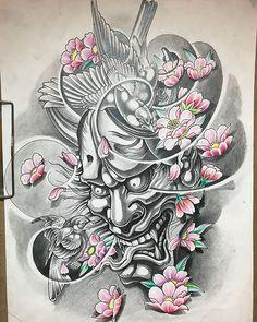 tattoo japones Diy Craft Table fold down craft table diy Oni Tattoo, Samurai Mask Tattoo, Sak Yant Tattoo, Japanese Mask Tattoo, Japanese Tattoo Designs, Japanese Sleeve Tattoos, Hannya Samurai, Oni Maske, Japan Tattoo Design
