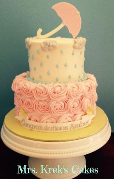 April Showers Baby Shower  on Cake Central