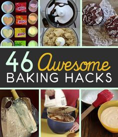 We all love baking homemade recipes. Especially bread and cakes. That's why we've listed 46 baking hacks for better baking.